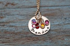I got this for my mom with our names and birthstones! :)  Grandma's Gems Necklace. #mothersday #jewelry