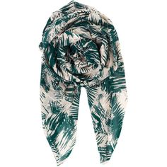 Becksondergaard Y-Yoland Cotton Scarf - Botanical Garden ($33) ❤ liked on Polyvore featuring accessories, scarves, botanical garden, evening shawls, cotton shawl, holiday scarves, floral print scarves and floral shawl