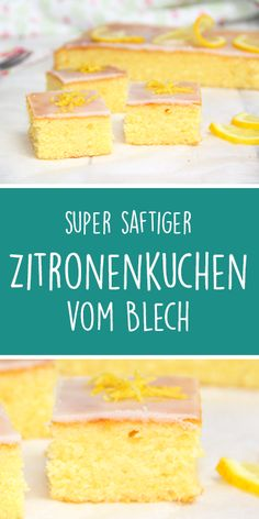 Super juicy lemon cake from the plate. Sure of success :-) - Thermomix Rezepte aus der Hexenküche - Kuchen İdeen Food Cakes, Cake Recipes, Dessert Recipes, Lemon Recipes, Dessert Blog, Party Desserts, Egg Recipes, Pizza Recipes, Healthy Desserts