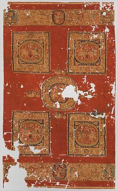 Hanging Date: 8th century Geography: Egypt Culture: Coptic Medium: Wool Dimensions: H. 104 3/4 in. (266 cm) W. 62 5/8 in. (159 cm) Wt. 183 lb. (83kg) Classification: Textiles