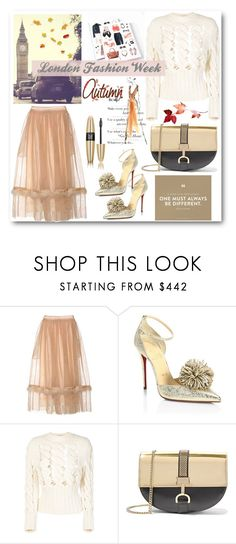 """London Fashion Week"" by stylish-sparkles ❤ liked on Polyvore featuring Simone Rocha, Christian Louboutin, Philosophy di Lorenzo Serafini, Lanvin and Victoria's Secret"