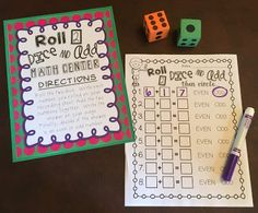 Math center ideas for even and odd numbers!
