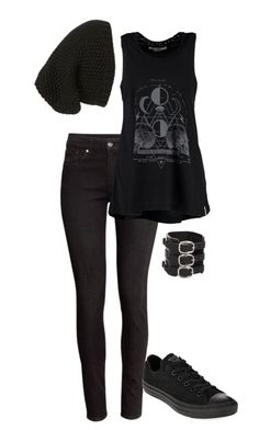 """Untitled #30"" by another-emily ❤ liked on Polyvore featuring H&M, Billabong, Converse and Phase 3"