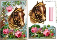HORSE AMONG THE ROSES on Craftsuprint - Add To Basket!