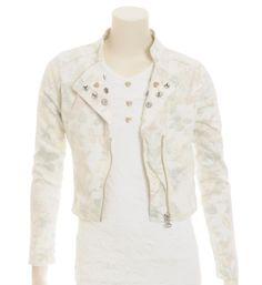 Carbone Jack - jasje met een all over bloemenprintje en decoratieve knoopjes - meisjeskleding / feestkleding / communiekleding - NummerZestien.eu