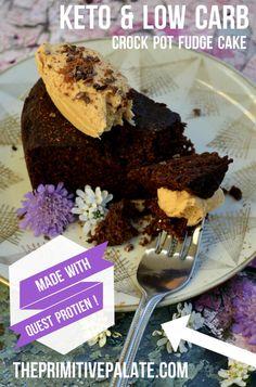 Keto Crock Pot Fudge Cake & QUEST Giveaway