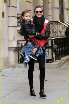 Miranda Kerr and her son Flynn head to JFK Airport for a departing flight on November 16, 2013