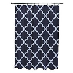 e by design Marrakech Express Geometric Print Shower Curtain; Bewitching