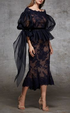 Marchesa Off The Shoulder Lace Top