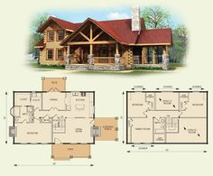 Small log cabin floor plans and pictures 2 bedroom log cabin homes floor plans log cabin . Log Cabin House Plans, Log Home Floor Plans, Basement House Plans, Log Cabin Homes, New House Plans, Dream House Plans, Log Cabins, Mountain Cabins, Cabin Design