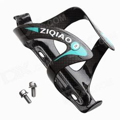 ZIQIAO BCF-1321 Carbon Fiber Water Bottle Bracket Holder for Bicycle - Black   Blue Price: $17.99
