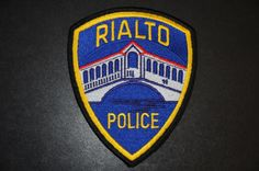Rialto Police Patch, San Bernardino County, California
