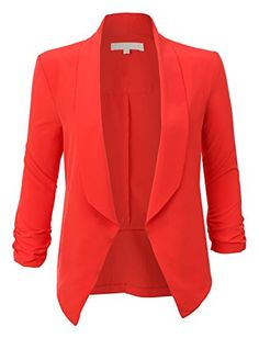 RubyK Womens Ultra Lightweight Summer Open Front Draped Tuxedo Blazer * CHECK OUT @ http://www.passion-4fashion.com/clothing/rubyk-womens-ultra-lightweight-summer-open-front-draped-tuxedo-blazer/?b=0602