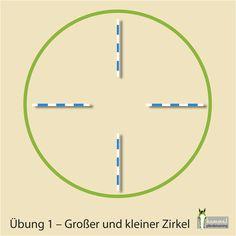 In dieser Serie will ich euch 7 effektive Übungen vorstellen, die mit wenig Equipment und Vorbereitung durchgeführt werden können. Die Übungen erfordern Genauigkeit und das richtige Timing, um das Pferd sauber durch die Stangen zu führen. Die Stangen sollten im Idealfall so aufgelegt werden, dass der innerste Zirkel einen Durchmesser von 6-7 Metern nicht unterschreitet. Ziele: Punktgenaue Richtungswechsel, Verfeinerung der Hilfen (vor allem der richtungsweisenden Gewichtshilfen), absolute…