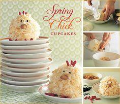 Spring Chicks  Cupcakes