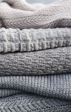 neutral knits.