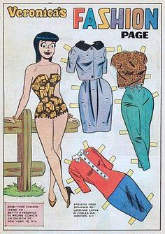 Vintage comic paper dolls