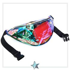 3ff707d06 Buy Fantasy Clear Iridescent Fanny Pack, Clear Fanny Pack, Champagne Clear  Fanny Pack at