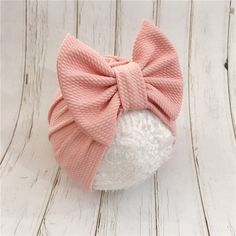 Material: Cotton Blend Gender: Baby Girls Suitable For: Ages 6 Months to 3 Years Old Adorable Big Bow Turban For Your Little One! Newborn Outfit, Newborn Bows, Newborn Headbands, Baby Girl Newborn, Baby Girl Bows, Girls Bows, Baby Girls, Toddler Girls, Baby Turban