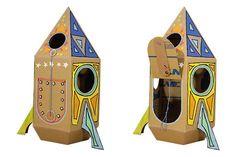 Raumfahrt im Kinderzimmer: So baut man eine Space-Rakete aus Karton-amicella