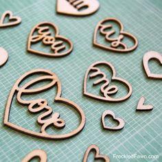 FF Heart Wood Chips - #FreckledFawnPin