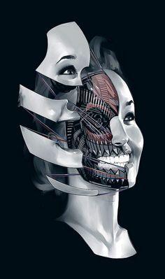 """translucentmind: """"Future Face V // Billy Nuñez"""""""