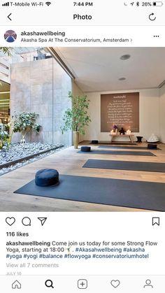 Yoga Room Studio Meditation Space 61 Ideas For 2019 Yoga Studio Design, Yoga Room Design, Yoga Studio Home, Pilates Studio, Studio Room, Yoga Studio Interior, Home Yoga Studios, Yoga Studio Decor, Home Interior