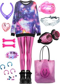 """Galaxy jumper"" by twisted-candy on Polyvore"