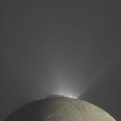 """""""Fountains of Enceladus"""" from CASSINI - Enceladus is one of SATURN's Moons"""
