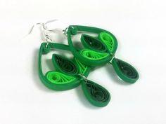 Eco Friendly joyería verde pendientes por SweetheartsandCrafts