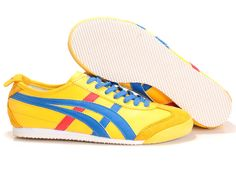 Mens Asics Onitsuka Tiger Kanuchi Shoes Yellow Royal Blue