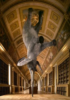 "French artist Daniel Firman, ""Wursa à 18 000km de la terre"" 2006-2008"