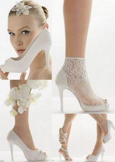 Carina Com C: Sapatos de noivas - branco