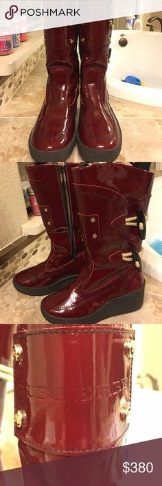 Burberry boots. Drop dead gorgeous!!!! Worn twice. Look new! Firm on price.AWESOME Shoes Winter & Rain Boots