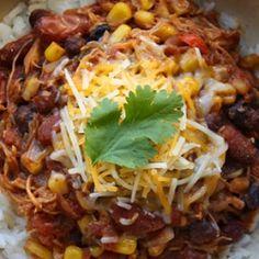 Crock Pot Chicken Chili  Low Fat, High Fiber Delicious Comfort Food