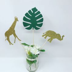 Excited to share this item from my shop: Jungle Party Safari Centerpiece, set of 6 centerpiece sticks ), Safari Baby Shower Decoration, Jungle Baby Shower Safari Theme Centerpieces, Safari Party Decorations, Reunion Centerpieces, Minnie Mouse Party Decorations, Birthday Centerpieces, Baby Shower Centerpieces, Baby Shower Decorations, Monkey Centerpiece, Mickey Mouse Party Supplies