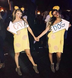What's a cat without her dog? CatDog Halloween Costume