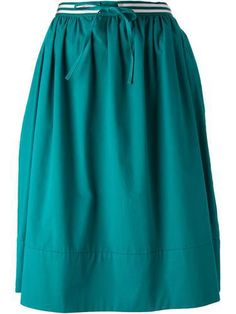 PAUL BY PAUL SMITH contrasting waistband skirt #skirt #paulsmith #women #designer #covetme #paulbypaulsmith