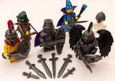 Lego Mecha, Legos, Lego Custom Minifigures, Lego Minifigs, Lego Dragon, Lego Universe, Dungeons And Dragons Miniatures, Lego Knights, Lego Sculptures