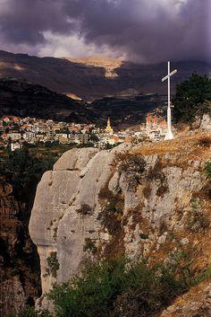 LEBANON, BSHERRI AT DUSK
