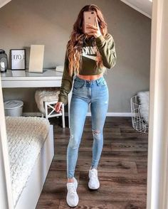 trendy outfits for women \ trendy outfits ; trendy outfits for summer ; trendy outfits for school ; trendy outfits for women ; Cute Teen Outfits, Teenage Girl Outfits, Cute Summer Outfits, Stylish Outfits, Teenager Outfits, Trendy Outfits For Teens, White Girl Outfits, Cute Outfits With Nikes, Outfits With Skinny Jeans
