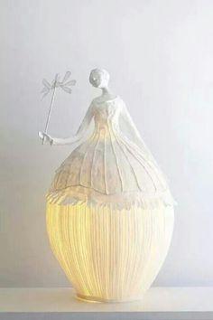 Lampada di cartapesta (usando un palloncino)  (Trovato su web...non ricordo dove)
