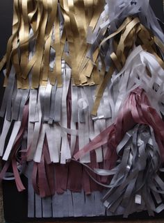 silver and gold mix fringe tissue paper bunting and tassel kit Tissue Paper Garlands, Tissue Pom Poms, Paper Bunting, Diy Tassel Garland, Balloon Garland, Tassels, Paper Lantern Store, Paper Lanterns, Winter Party Decorations