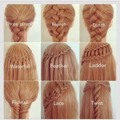 Coiffure natte cheveux longs shared by It gives me a thrill Different Braids, Different Types Of Hairstyles, Types Of Braids, Braid Types, Types Of Buns, Tips Belleza, About Hair, Hair Hacks, Hair Goals