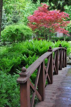 Three Dogs in a Garden: Part 2 Gardens with an Uneven Terrain Garden Structures, Outdoor Structures, Landscaping A Slope, Japanese Garden Design, Japanese Gardens, Front Yard Design, Topiary, Shade Garden, Dream Garden