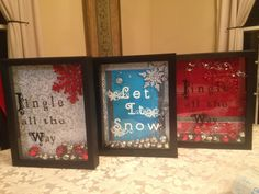 5x7 shadow boxes with bells inside
