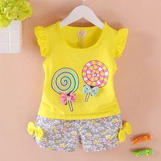 2 Pcs Cute Baby Girl Summer Clothes 2017 New Brand Sleeveless Baby Clothing Cotton Newborn Baby Girl Clothes Infantil Menina