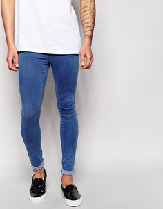 Dr Denim Jeans Dixy Low Spray On Extreme Super Skinny Dark Stone