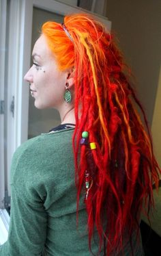 I will repin the shit out of my own picture ;) #dreads #dreadlocks #colorfuldreads