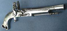 All steel Scottish flintlock pistol
